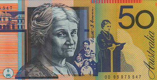 Australian banknote with Edith Cowan width=500 height=256 border=0>