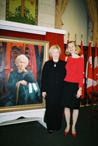 Kim Campbell and Merna Forster