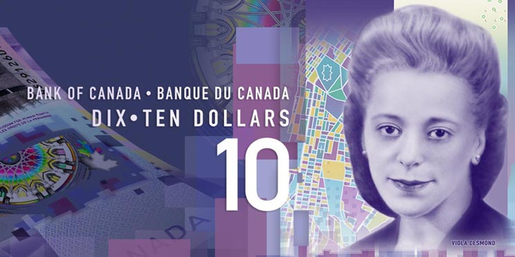 Viola Desmond bank note Bank of Canada