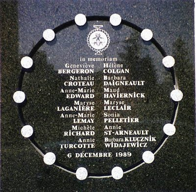 Memorial for Victims of Montreal Massacre