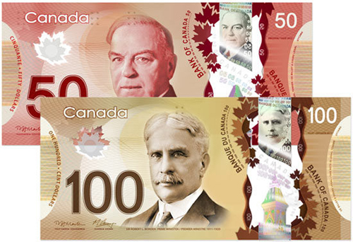 Bank of Canada polymer bills